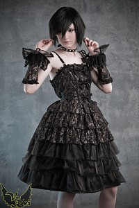 Gold Gothic Lolita dress K-STAR frills bows