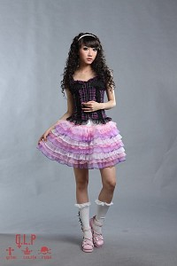 White and pink skirt G.L.P sweet fairy kei