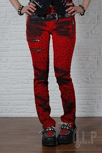 Red pants in leopard spots G.L.P