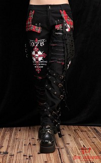 Visual Kei pants G.L.P with bandana Punk unisex