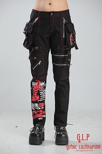 Pants with detachable pockets G.L.P zippers punk rock visual kei