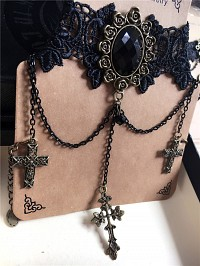 Gothic heart-shaped gothic Necklace choker 7