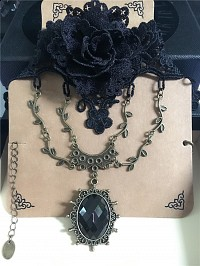 Gothic heart-shaped gothic Necklace choker 4