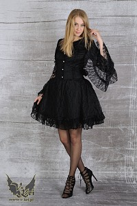 Black gothic dress G.L.P laced sleeves