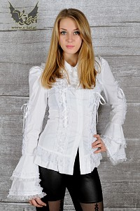 White shirt wide sleeves G.L.P bows