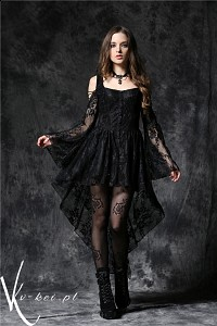 Gothic black dress with frills