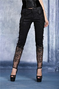 Gothic pants with lace elegant aristocrat victorian