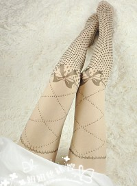 Stockings Tattoo sweet Lolita harajuku bow