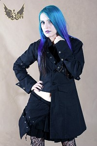 Military black jacket G.L.P visual kei belt unisex